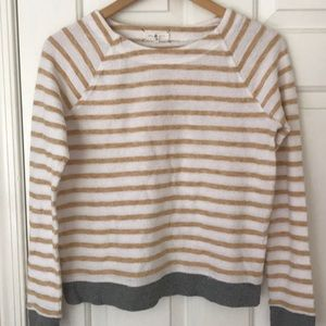 Striped terry long sleeved top